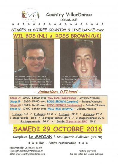 affiche wil bos ross brown 29 octobre 2016